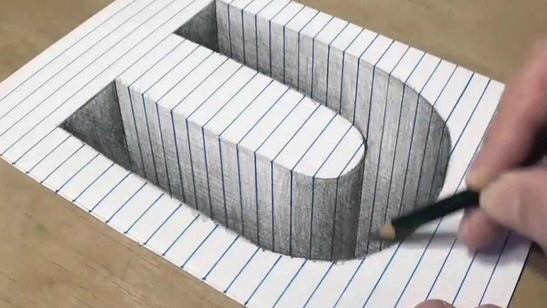 Cách Vẽ hố 3D hình chữ U